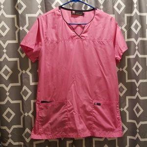 Tops - Pink Lizzy B Cinch Back Scrub Top